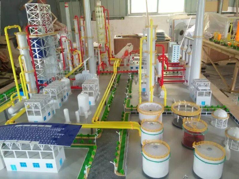 炼油装置模型