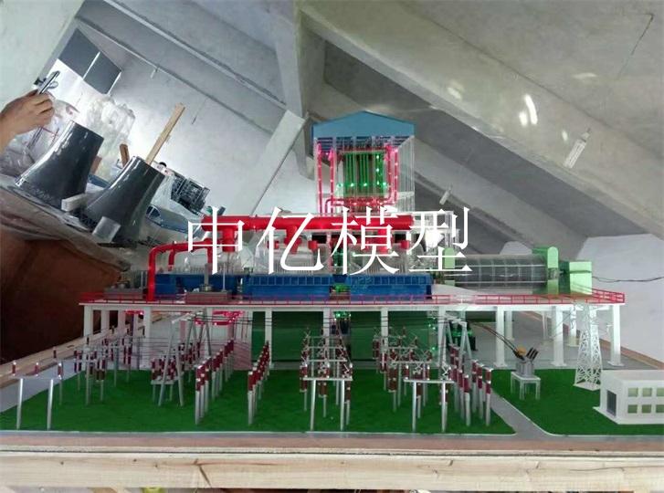 火力发电厂整体布置模型