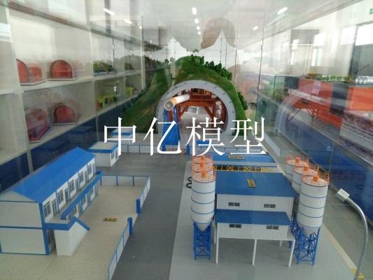 隧道通风整体布局模型