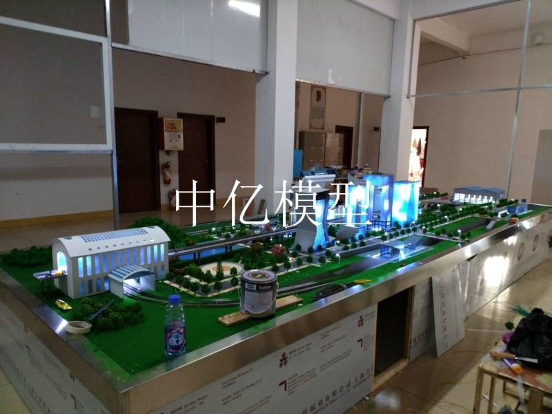 高铁站沙盘模型
